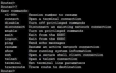 ios user exec mode