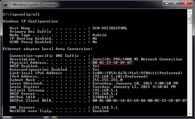 MAC address   CCNA