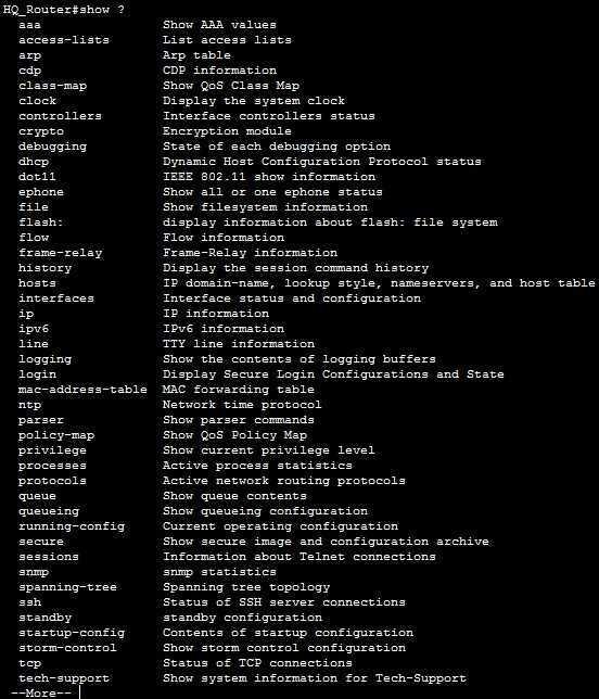 IOS show command | CCNA