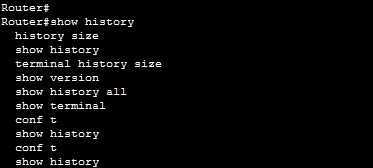 show history command