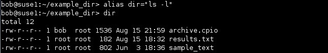 linux alias befehl