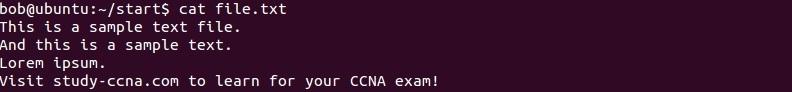linux beispieldatei 2