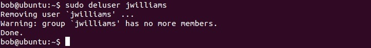 linux deluser befehl