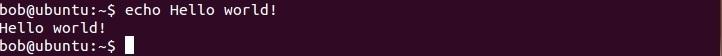 linux echo befehl