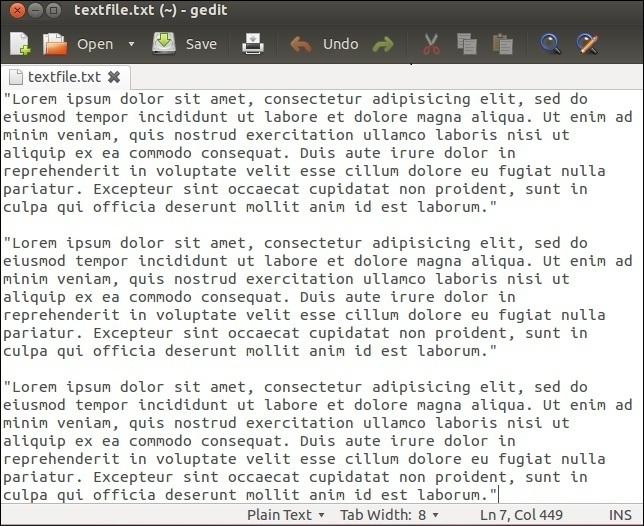 linux gedit texteditor