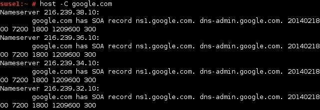 linux host befehl soa eintrag