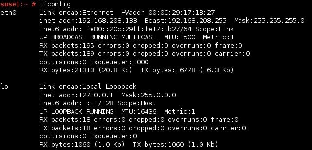 linux ifconfig befehl