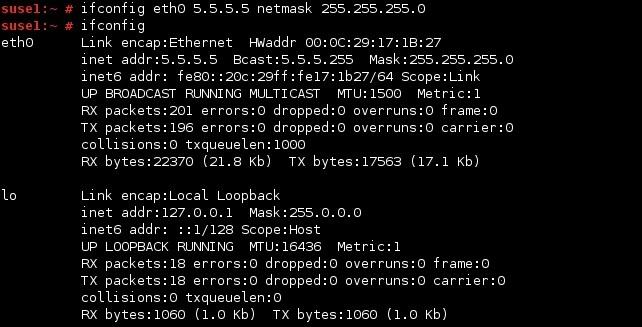 linux ifconfig ip adresse konfigurieren