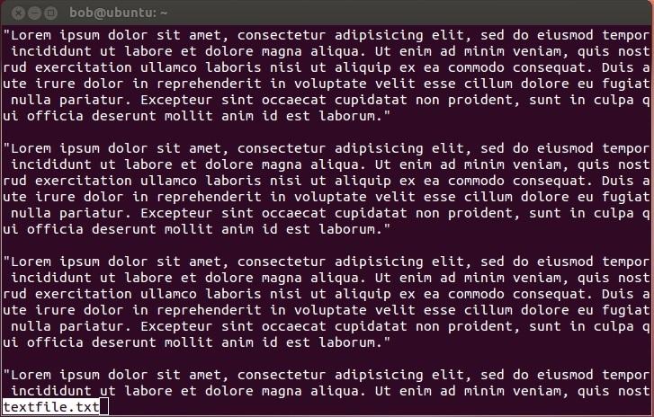 linux less programm