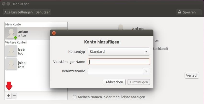 linux benutzer anlegen gui 3