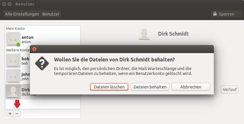 linux benutzer löschen gui 3