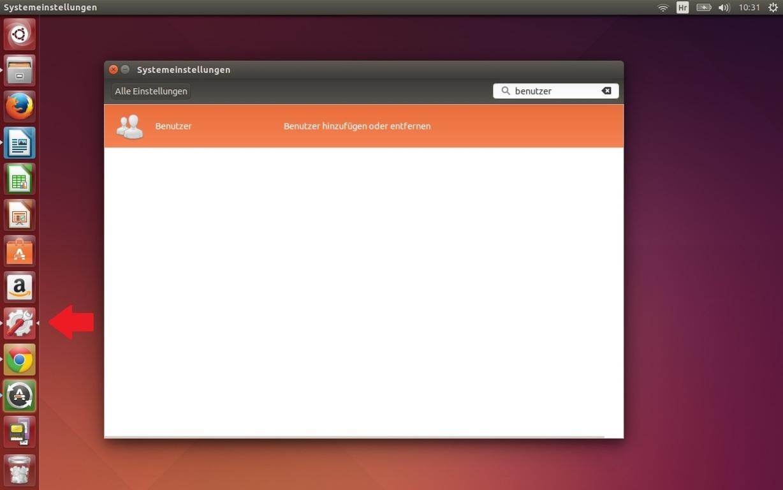 linux benutzer verändern gui 1