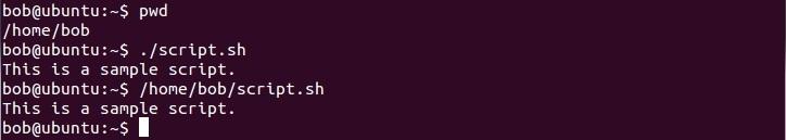 linux skript ausführen absoluter pfad