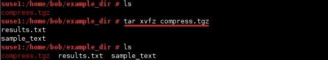 linux tar archiv extrahieren