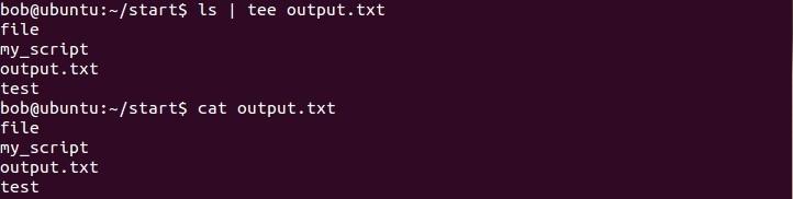 linux tee befehl