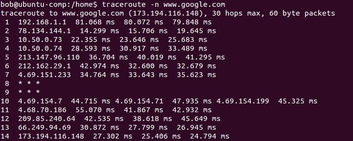 linux traceroute namensauflösung deaktivieren