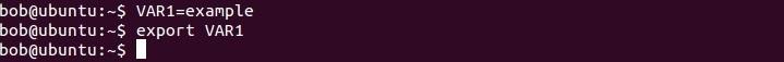 linux umgebungsvariable einstellen