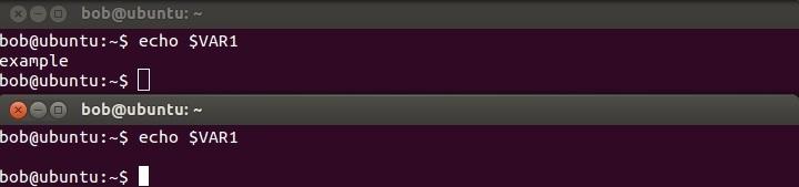 linux umgebungsvariable neue shell