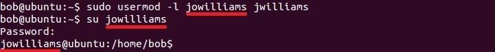 linux usermod befehl benutzer umbenennen