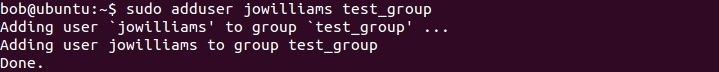 linux adding user to a group