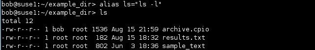 linux alias ls