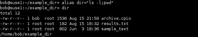 linux alias more commands