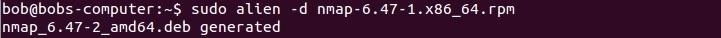 linux alien convert to deb