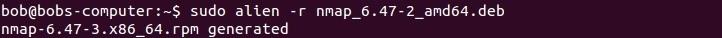 linux alien convert to rpm