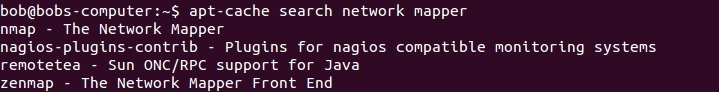 apt-cache search for a program