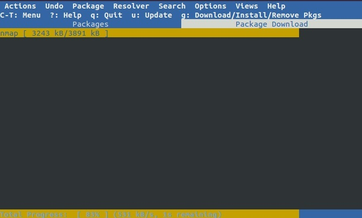 aptitude install package