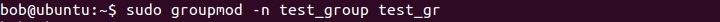 linux changing the group name