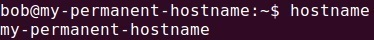 check new hostname