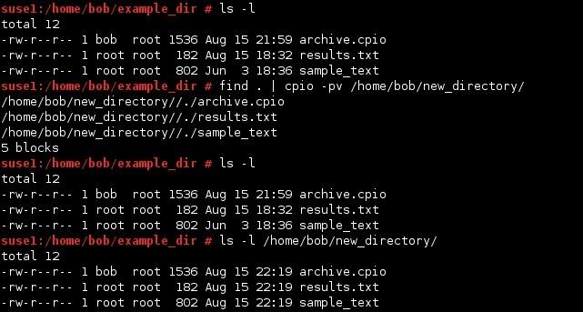 linux cpio copy files