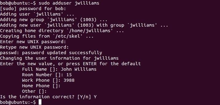 linux adduser command