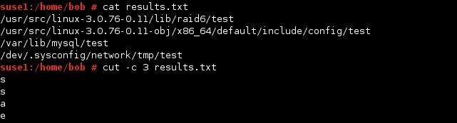 linux cut command