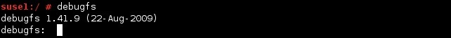linux debugfs command