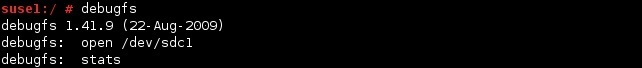 linux debugfs stats command