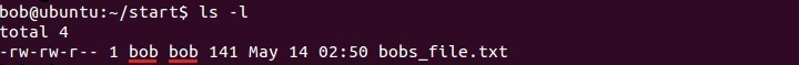 linux display file ownership