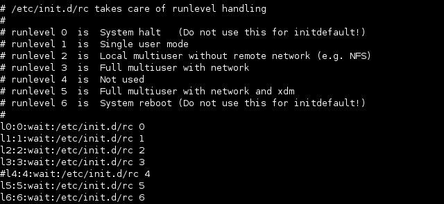 linux inittab runlevels