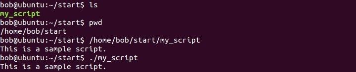 linux executing a script