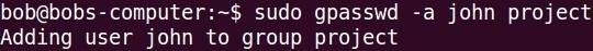 gpasswd command a option