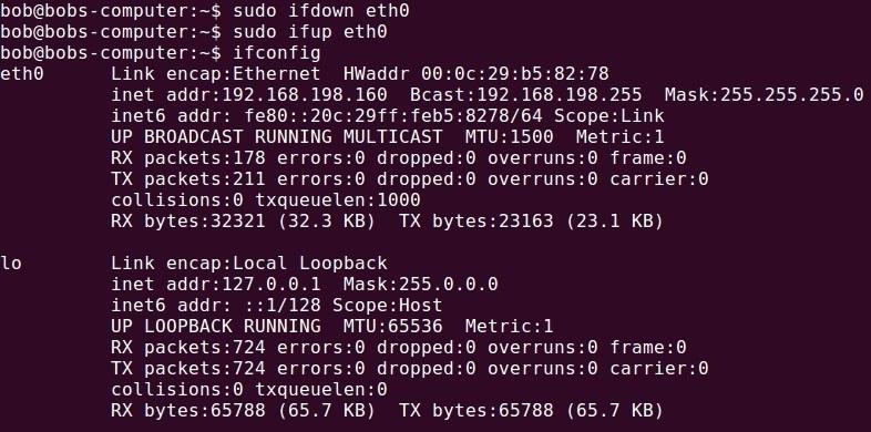 ifconfig ubuntu