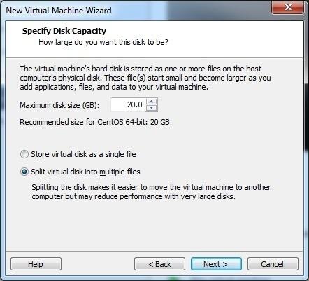 install centos hard disk