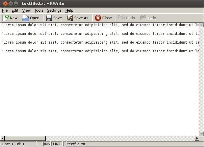 linux kwrite