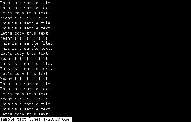 linux less program