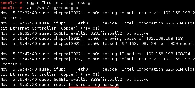 linux logger command
