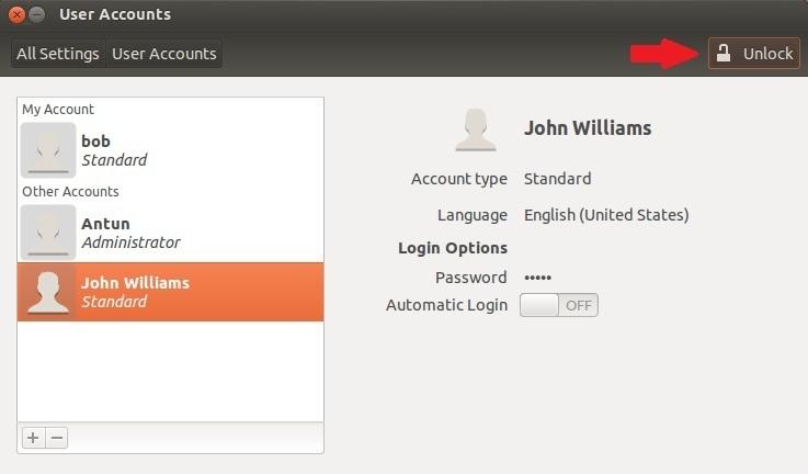 modifying users ubuntu 2