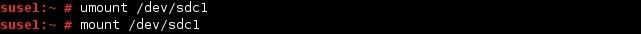 linux mount umount commands
