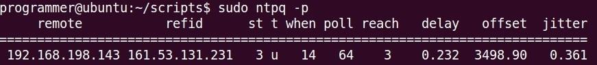 ntpq p client