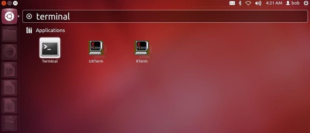 open terminal window in linux